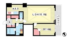 アーバンライフ神戸三宮ザ・タワー 2502の間取