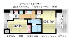 エステムプラザ神戸西Ⅴミラージュ 304の間取