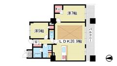 ライオンズタワー神戸旧居留地 1203の間取