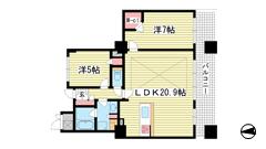 ライオンズタワー神戸旧居留地 11Fの間取
