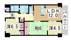 エスペラール神戸 603の間取
