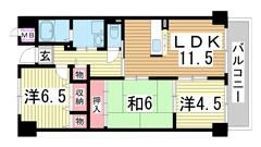 エスペラール神戸 303の間取