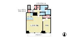 ザ・パークハウス神戸ハーバーランドタワー 3406の間取