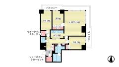 ザ・パークハウス神戸ハーバーランドタワー 511の間取
