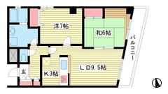 クアトロ神戸 503の間取