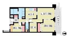 東町・江戸町ビル 8Fの間取