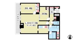 ザ・パークハウス神戸ハーバーランドタワー 3102の間取