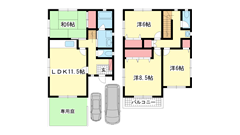本山中町レンタルハウス ***の間取