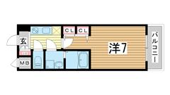 スプランディッド神戸北野 903の間取
