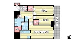 ザ・パークハウス神戸ハーバーランドタワー 2709の間取