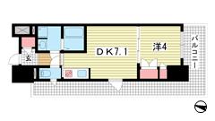 プラネソシエ神戸元町 206の間取