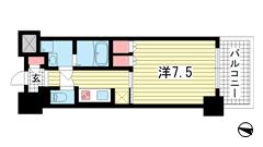 プラネソシエ神戸元町 202の間取