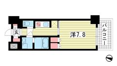 プラネソシエ神戸元町 205の間取