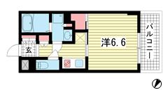 プラネソシエ神戸元町 207の間取
