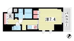 プラネソシエ神戸元町 208の間取
