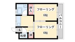 脇浜マンション 302の間取
