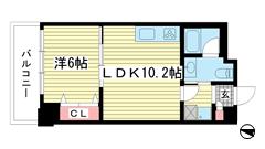 花隈ダイヤハイツ 324の間取