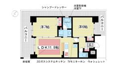 エステムプラザ神戸西Ⅴミラージュ 601の間取