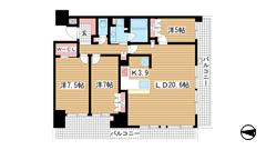 ベリスタ神戸旧居留地 3Fの間取