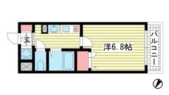 スワンズコート新神戸 402の間取