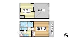 ワコーレヴィアーノ神戸上筒井通EAST 203の間取