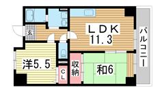 ミリオンベル神戸 703の間取