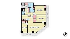 ザ・パークハウス神戸ハーバーランドタワー 26Fの間取