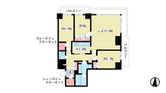 ザ・パークハウス神戸ハーバーランドタワー 1011の間取