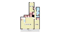 ワコーレ神戸灘タワー 3003の間取