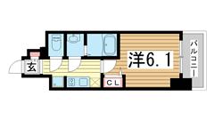 ポルト・ボヌール神戸湊川公園 903の間取