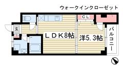 夢野アパートメント 402の間取