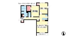 (仮称)垂水区霞ケ丘D-room 201の間取