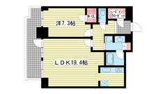 ジークレフ新神戸タワー 3003の間取