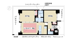 エステムプラザ神戸西Ⅴミラージュ 201の間取