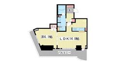 ジークレフ新神戸タワー 1207の間取