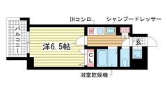 スワンズコート新神戸 1004の間取