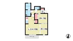 神戸中島通 萬利Residence 101の間取
