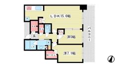 シティタワー神戸三宮 4409の間取
