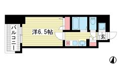 スワンズコート新神戸 301の間取