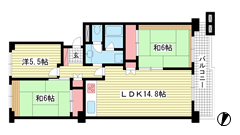 神戸ポートビレジ1号棟 13Fの間取