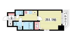 エスティ・ロアール神戸駅前 1302の間取