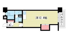 ☆ポートアイランド54号棟(UR) 1110の間取