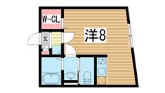 モダンアパートメント神戸湊川 102の間取