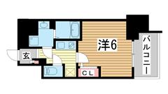 エスリード神戸三宮 804の間取