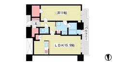 ジークレフ新神戸タワー 3702の間取