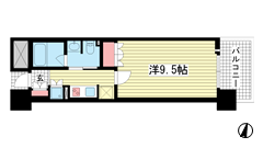 リーガル神戸三宮フラワーロード 203の間取