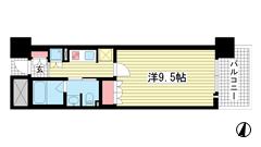 リーガル神戸三宮フラワーロード 402の間取