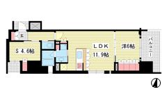 リーガル神戸三宮フラワーロード 501の間取