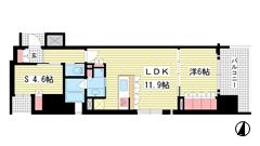 リーガル神戸三宮フラワーロード 801の間取