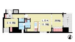 リーガル神戸三宮フラワーロード 901の間取